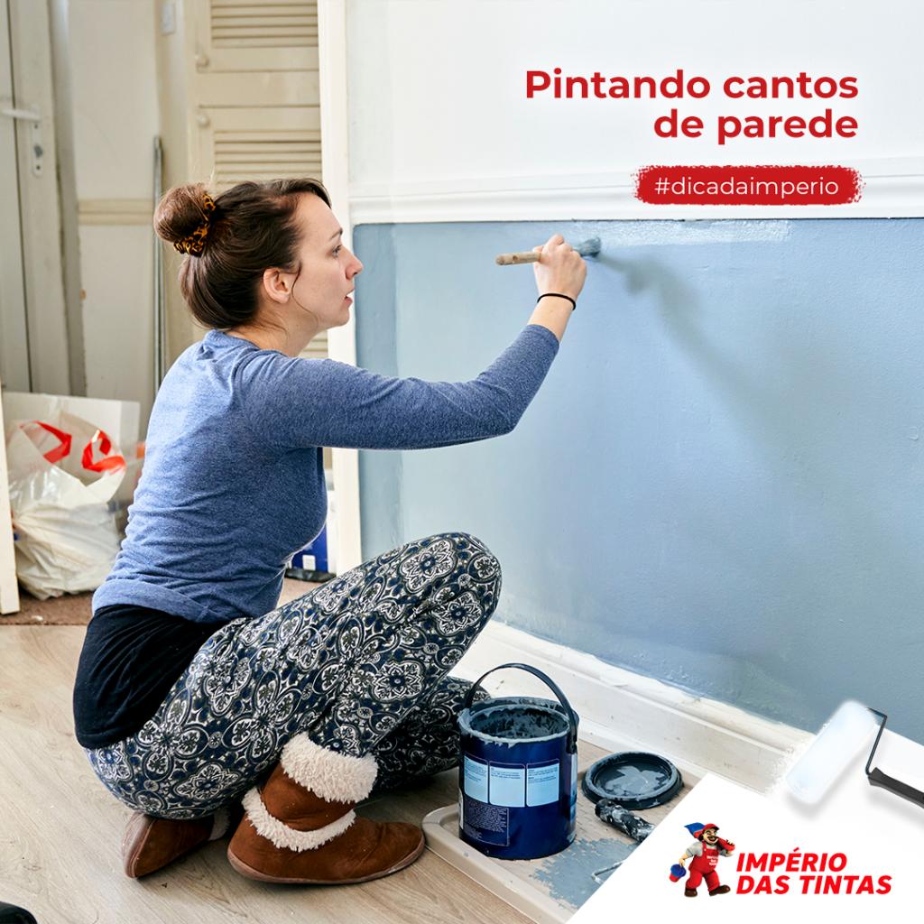 Pintando cantos de parede