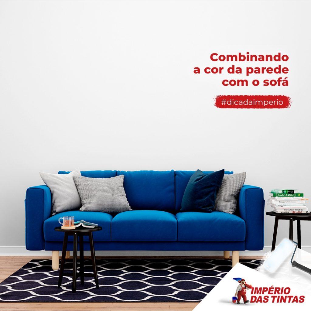 Combinando a cor da parede com o sofá