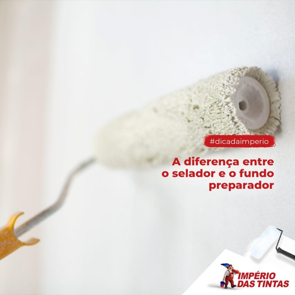 A diferença entre o selador e o fundo preparador