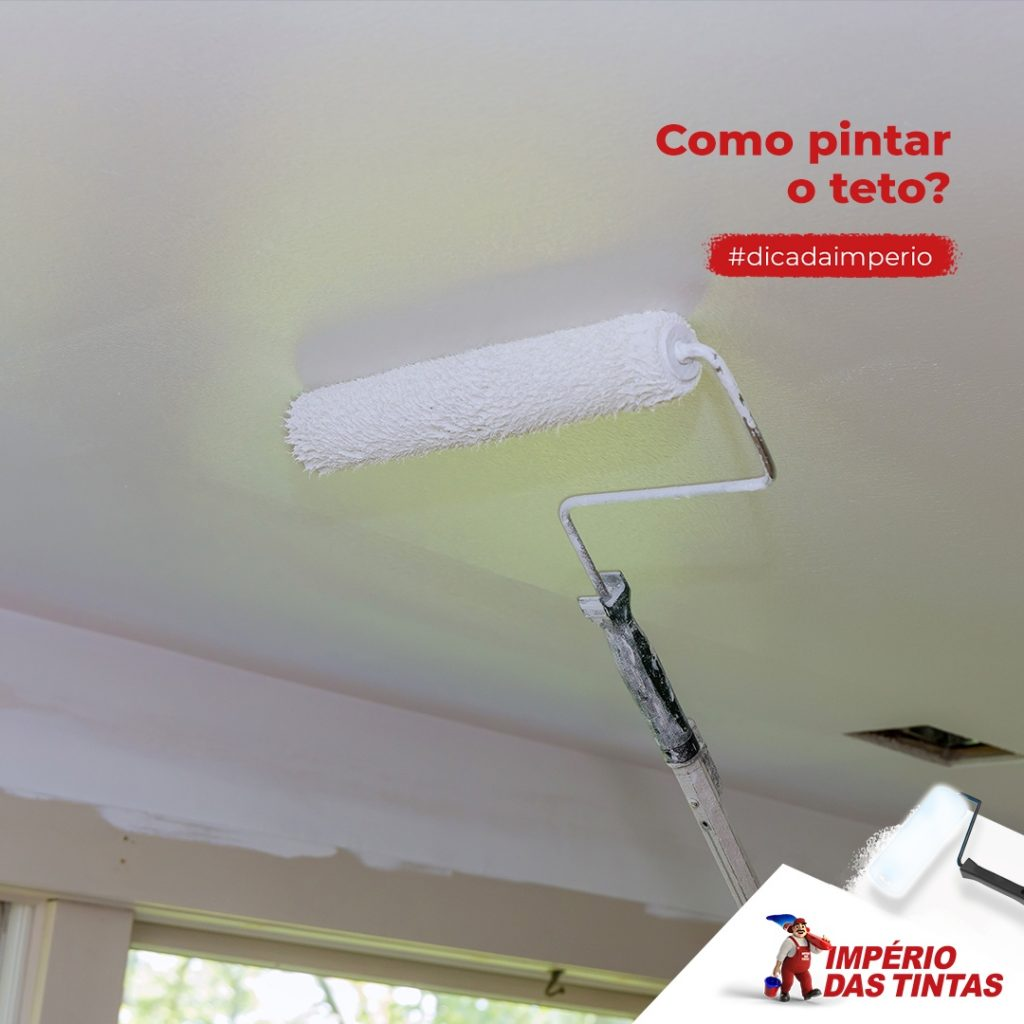 Como pintar o teto?