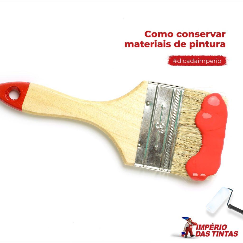 Como conservar materiais de pintura