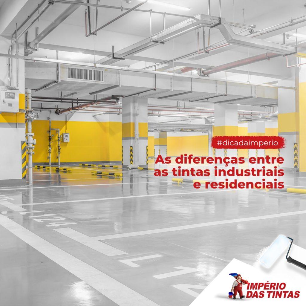 As diferenças entre as tintas industriais e residenciais
